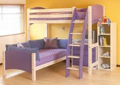 Make Your Children's Bedroom Larger Using Bunk Beds ... Simple-L-Shape-Bunk-Beds-Wooden-Floor-White-Blind-915x651 └▶ └▶ http://www.pouted.com/?p=24018