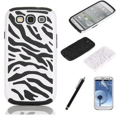 'Samsung Galaxy s3 i9300 Zebra Case w/ Extra's!' is going up for auction at  5pm Sat, Jul 27 with a starting bid of $1.