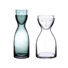 Mr and Mrs Carafe and Glass set by @nudeglass. MO2017. Blog déco Chevé & Rogé