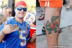 Florida Leg tattoo