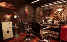 Tendência. Barbearias com estilo vintage atraem os clientes.  #Barbearia #vintage #Retrô