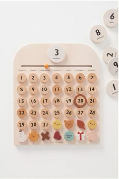 This delightful calendar will foster your little one's interest in - and understanding of - the days of the week, numbers, and monthly planning. Best of all? Crafted from sustainable beech wood, it's a family heirloom-in-the-making that can be passed down for generations. My Calendar, Behaviour Chart, Kids Behavior, All Craft, Dry Erase Board, Spring Home, Leather Journal, Weekly Planner, Cleaning Wipes