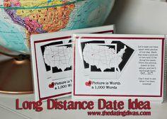 Super cute long distance date idea. www.TheDatingDivas.com  #longdistance #romance