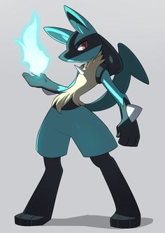 "Lucario the Aura Pokemon. ""It has the ability to sense the Auras of all things. It understands human speech."" - Diamond Pokedex Entry #Pokemon #Lucario #fanart"