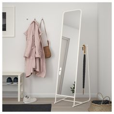 flooring mirror KNAPPER Floor mirror - w - flooring White Bedroom Furniture, Ikea Bedroom, Bedroom Decor, Modern Bedroom, Bedroom Mirrors, Bedroom Ideas, Luxury Furniture, Ikea Mirror, Mirror Room Divider