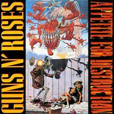 1987년 7월 발매, Guns & Roses의 1집 appetite for destruction의 The original cover Art (정규 라이센스 커버와는 틀림). 1990년 청계천 어느 골목에서 백판을 1500원 인가? 에 구해서 들었던 앨범.  사운드야 물론이지만 그 시절 커버의 충격은 정말 대단했지 ㅋ