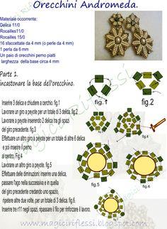MagiciRiflessi: schema orecchini andromeda  Part 1