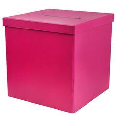 Hochzeit Briefbox / Geschenkbox pink, 20 x 20 cm