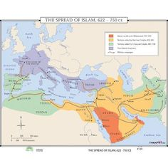Europe main map at the beginning of the year 1800 history of universal map world history wall maps spread of islam gumiabroncs Images