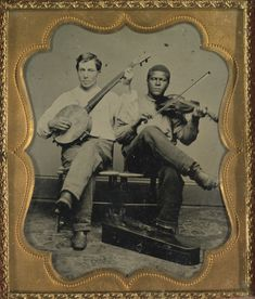 Banjo and fiddle players. - I think this picture is marvelous---you got the history of American music in its infancy! Antique Photos, Vintage Pictures, Vintage Photographs, Old Pictures, Old Photos, Mountain Music, Play That Funky Music, Portraits, Music Pictures