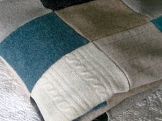 Wool recycled sweater quilt