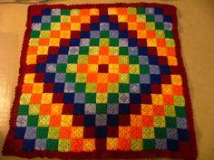 Patchwork Crochet Free Pattern Diamond Design 2