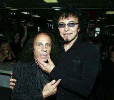 Ronnie James Dio (Elf, The Rainbow, The Black Sabbath, Dio, The Heaven and Hell) with Tony Iommi (The Jethro Tull, The Black Sabbath).