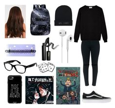 My style by my-chemicalphan on Polyvore featuring polyvore, fashion, style, Vans, MNKR, Casetify, Ray-Ban, INIKA and clothing