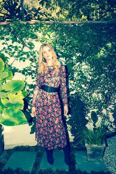 Rosie Huntington Whiteley, and that dress I want to wear this spring!