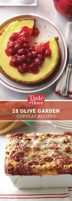 Recipes from Taste of Home