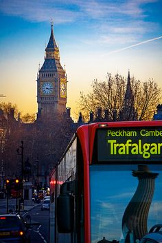 Iconic London at Sunset.I like the reflection in the bus window. England Uk, London England, Travel England, Stonehenge, Salisbury, Places To Travel, Places To See, Hyde Park, Brighton