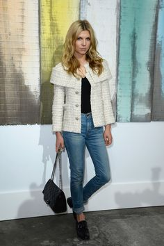 Clemence Poesy - Chanel ss14 : Front Row. Her face is stunning!