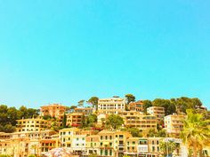 View of the historic old town Port de Soller on Mallorca, Spain  #mallorca #catalonia #balearic #spain #shutterstock
