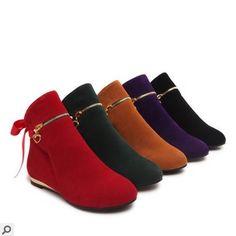26.40$  Watch now - https://alitems.com/g/1e8d114494b01f4c715516525dc3e8/?i=5&ulp=https%3A%2F%2Fwww.aliexpress.com%2Fitem%2FLadies-Warm-Boots-Flats-Plus-size-34-43-Nubuck-Leather-Single-Riding-Booty-Round-toe-Winter%2F32725793445.html - Ladies Warm Boots Flats Plus size 34-43 Nubuck Leather Single Riding Booty Round toe Winter Boots Fashion American Style Purple 26.40$
