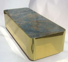 Illuminated Marble and Brass Coffee Table by Steve Chase | From a unique collection of antique and modern coffee and cocktail tables at http://www.1stdibs.com/furniture/tables/coffee-tables-cocktail-tables/
