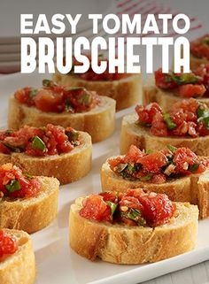 This classic Easy Tomato Bruschetta recipe, made with simple ingredients, is the perfect bite-sized snack or appetizer! HuntsAtHome AD