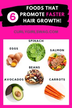 Read About The 6 Best Foods That Promote Hair Growth & Why! hair growth 6 Best Foods That Promote Hair Growth - Curly Girl Swag New Hair Growth, Vitamins For Hair Growth, Healthy Hair Growth, Hair Growth Tips, Natural Hair Growth, Hair Growth Food, Best Hair Loss Treatment, Hair Growth Treatment, Oil For Hair Loss