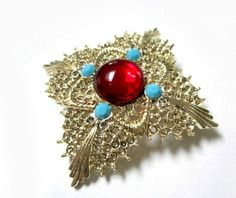 Vintage Signed DODDS Rhinestone Brooch Pin by SoBejeweled on Etsy, $20.00