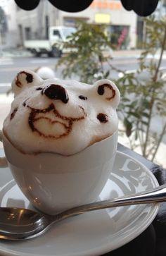 3D Bear Latte Art