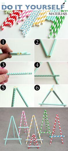 DIY Easel Straw