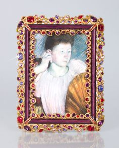 "Abelard Bejeweled 4"" x 6"" Frame by Jay Strongwater at Horchow."