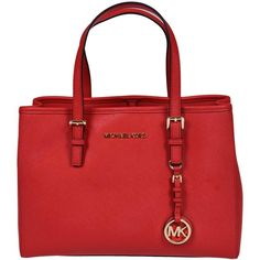 Jet Set Travel Medium Tote ($263) ❤ liked on Polyvore featuring bags, handbags, tote bags, red, womenbagstotes, red leather tote bag, leather travel tote, travel tote, red leather handbags and red leather purse