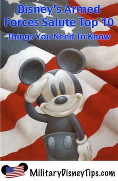 Disney's Armed Forces Salute is a fantastic discount available to military members. This discount includes both ticket and room discounts.  Here are the Top Ten Things that you need to know about this offer.
