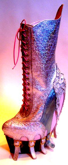 Kristin Lundgren. Okay there is no way I would wear these, but the colors are rockn'