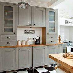 Cocinas con muebles grises