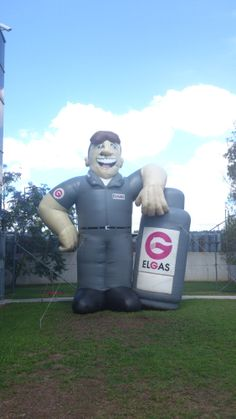 A piece of history! Gus the Gas Man has been with Elgas for over 20 years, he was found sitting in a dingy storage shed for the last 6 years. He is now cleaned and restored.