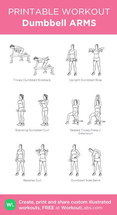 Slobbery image throughout dumbbell workout chart printable