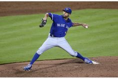 Toronto Blue Jays starting pitcher David Price (14) works the fifth inning against the Braves in Atlanta Wednesday night.