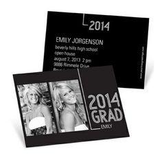 Mini Graduation Announcements -- Striped Success   Pear Tree Greetings