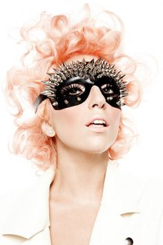 Lady Gaga spikey black face mask