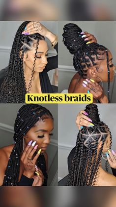 Cute Box Braids Hairstyles, Box Braids Hairstyles For Black Women, Braids Hairstyles Pictures, African Braids Hairstyles, Braids For Black Hair, Hair Pictures, Hairstyles Videos, Natural Hairstyles For Girls, Braids With Color