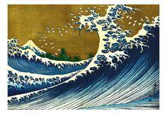 Great Wave (from 100 views of Mt. Fuji) - Posters av Katsushika Hokusai på AllPosters.se