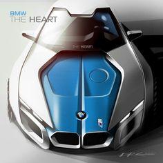 Sketches we like / BMW / Digital Sketch/ Blue / perpective /