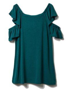 【ドロシーズ/DRWCYS】の2wayフリルスリーブカットトップス レディースファッション・服の通販 founy(ファニー) ファッション Fashion レディース Women トップス Tops Tshirt カットソー Cut and Sewn ボリュームスリーブ / フリル袖 Volume Sleeve 関連、ワード Tags オフショルダー カットソー スリーブ フリル グリーン|ID:329100000037497