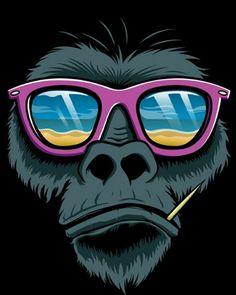 #cool #gorilla #sunglasses