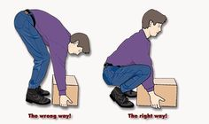 How to lift a box properly!