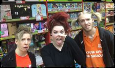 """GOSH Bad Hair Day Challenge Kayleigh and co mastered the """"Rocky Horror Show"""" look in MILTON KEYNES!"""