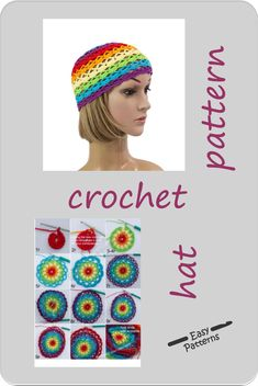 The crochet hat pattern allows you to make either Small, Middle or Adult size women's hat with adjustable straps. It's made up with echo friendly cotton yarn.The rainbow lgbt pattern includes: - step-by-step written descriptions,- chart,- photo tutorial. Easy Patterns, Flower Patterns, Tunic Pattern, Top Pattern, Crochet Poppy, Knitting Patterns, Crochet Patterns, Knitted Hats, Crochet Hats