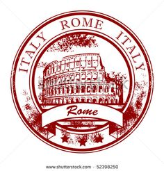 Grunge rubber stamp with Colosseum and the word Rome, Italy inside Stock Vector - 13872351 Laptop Decal, Laptop Stickers, Grunge, Travel Stamp, Car Bumper Stickers, Diy Origami, Thinking Day, Vintage Stamps, Aesthetic Stickers