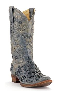 Corral Boots Men's Vintage Black Caiman Croc Inlay Cowboy Boots | Men's Boots